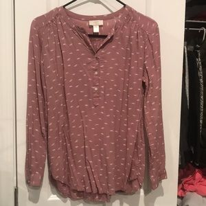 Salmon colored Loft outlet tunic